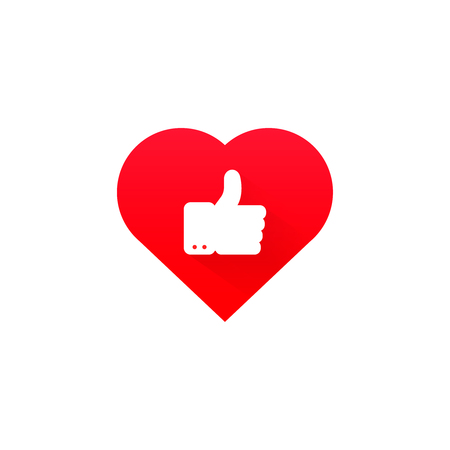 ok good heart health icon  red symbol