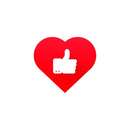 ok good heart health icon  red symbol