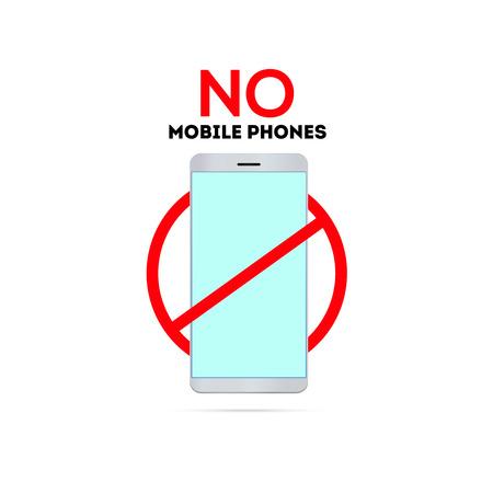 pas de téléphones portables chanter éteindre le téléphone ne pas utiliser de smartphone Vecteurs