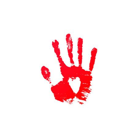 blood hand print vector horror vector criminal