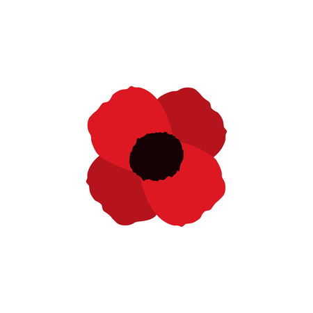 red poppy vector flower memorial symbol world war icon