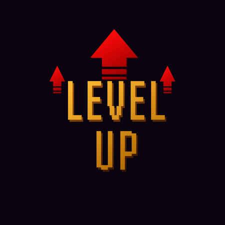 level up icon  new level vector