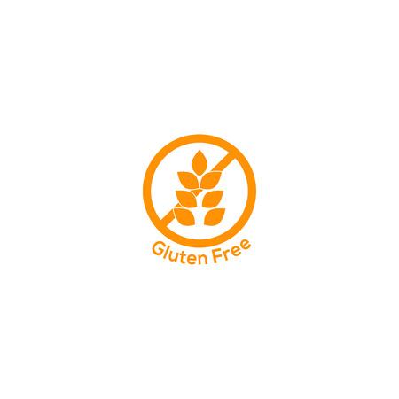 gluten free icon no wheat symbol food sign