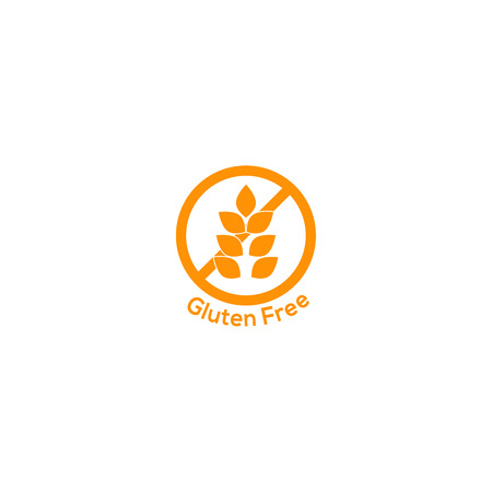 glutenvrij pictogram geen tarwe-symbool voedsel teken Vector Illustratie