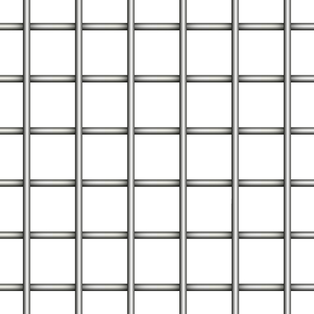 prison jail iron mesh seamless realistic vector background prisoner bars Illustration