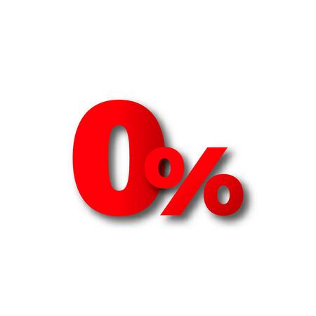 0 zero percent vector black Friday text advertisement discount Stock Illustratie