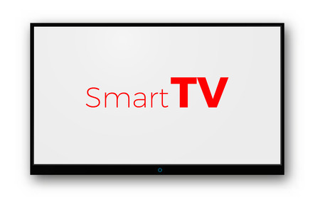 tv blank screen vector isolated tv mockup Standard-Bild - 105630513
