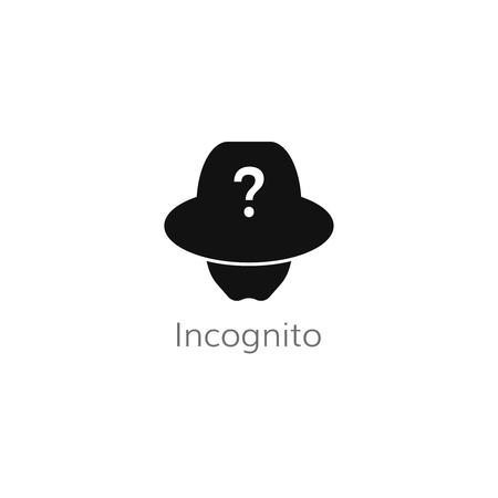 incognito user icon . unknown person symbol vector
