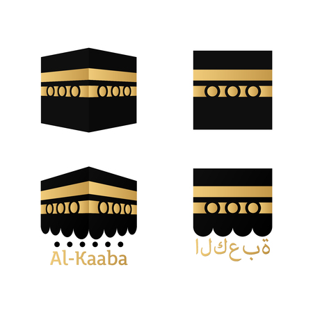 Kaaba for hajj  in mecca icons holy place icon