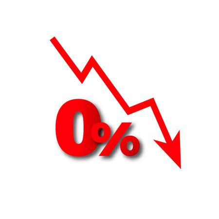 pérdida de dinero más del cero por ciento vector