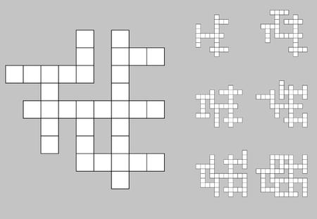 Crossword empty set background vector 일러스트