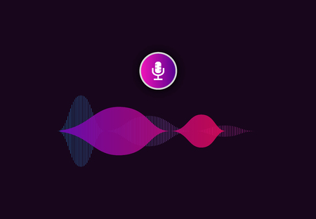 Voice assistant interface . Personal virtual assistant ai icon