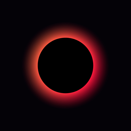 Solar and lunar eclipse vector. Gradient total eclipse Ilustrace