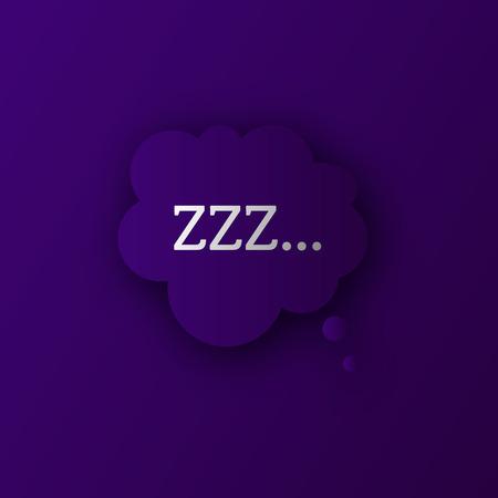 Zzz sleep sound vector . Bed time action