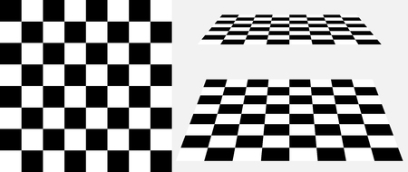 Schachbrettperspektivevektor 3d Hintergrund, Schachbrettsatz