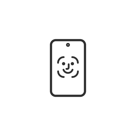 face id icon facial recognition  scan vector