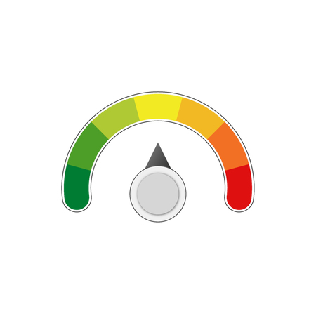 満足度のレベル測定スケールメーターベクトルメーター 写真素材 - 107308201