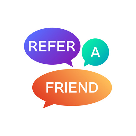 Refer a friend icon . Referral program logo Ilustração