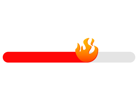 Hot level slider . Love emotions poll . Fire slide bar like story or stories concept