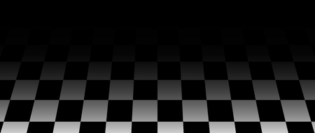 Chess board perspective black background . chessboard floor