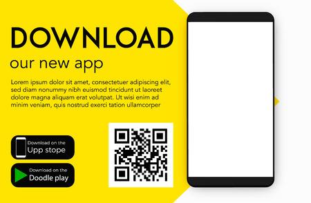 Téléchargez notre nouvelle conception vierge de vecteur d'application mobile (application)