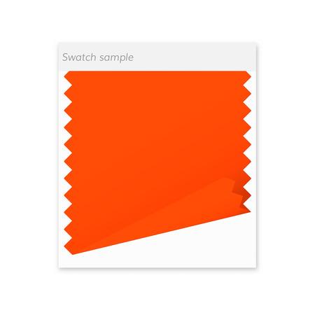 Swatch sample icon . fabric design orange textile
