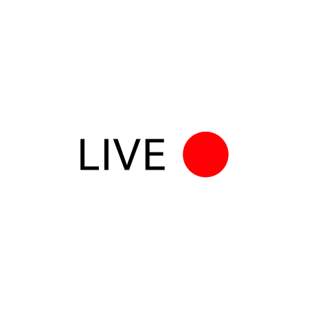 Live stream logo . Online broadcasting icons set