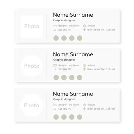 Email signature template . Personal mail signature design