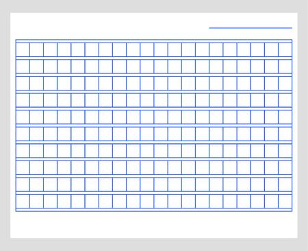 Plantilla de papel de manuscrito cuadrado. Papel azul en blanco