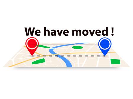 We have moved illustration . Address change concept Illustration