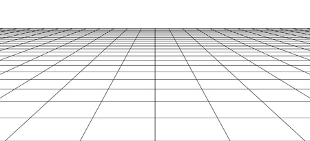 Perspective wireframe landscape . 3d abstract grid backdrop