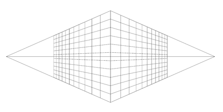 Perspective grid vector . 3d line mesh background