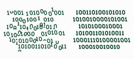 Binary code glitch . Computer software data element Ilustração