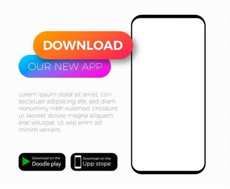mobile application add template . Download our app