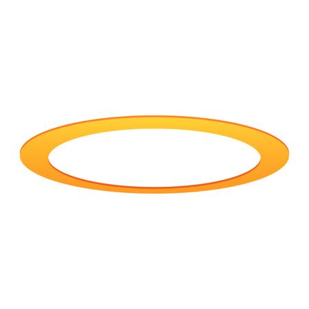 Halo engel ring geïsoleerd. Gouden heilige cirkel Vector Illustratie