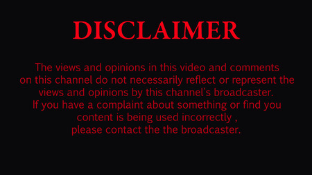 disclaimer for video , background with red text on dark  イラスト・ベクター素材