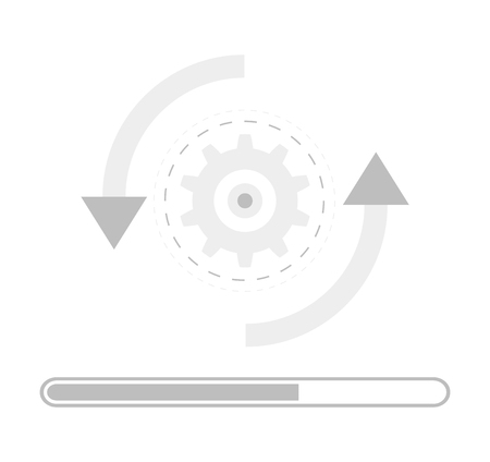 update icon concept . mobile software upgrade processing
