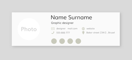 Corporate Email Signature . Blank email Signature template