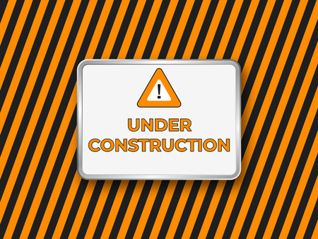 Under construction website banner .  Construct vector sign
