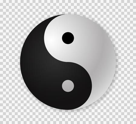 Yin yang icon.  Ying yang 3d symbol . Çizim