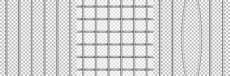 Metal grid set . Prison jail bar  broken .