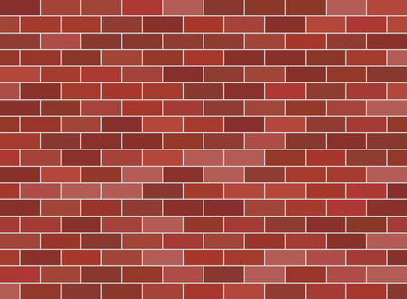 Brown brick wall background . Red brickwall texture.