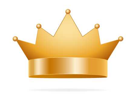 Golden Crown vector. King or queen golden corona . Иллюстрация