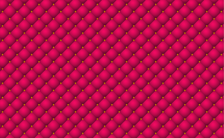 Luxury red background with buttons . Sofa retro backdrop .