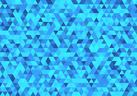 Blue triangle abstract background . Ice geometric mosaic . Ilustrace