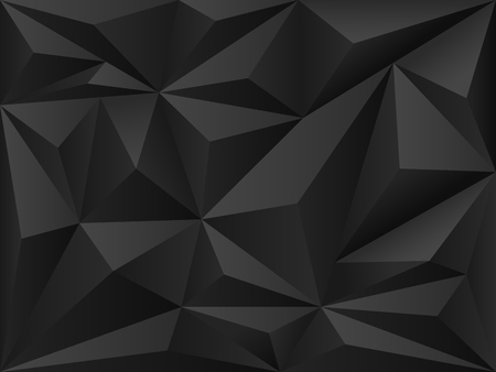 Dark polygon 3d background . Abctrsct futuristic backdrop . Ilustrace