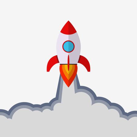 Rocket launch. Startup concept.  Boost business idea Reklamní fotografie - 123594399