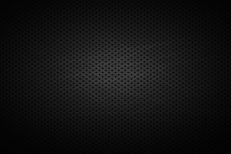 Metal grid qith holes . Vector dark background . Steell iron cover.