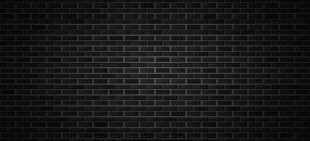 Black brick wall . Dark brick vector background . Reklamní fotografie - 123594542