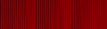 Red theater drape background .  Wide opera scene.